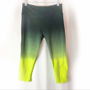 Nike highlighter green high rise leggings Medium